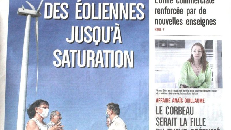 Article dans le journal l'Union 21/09/2020